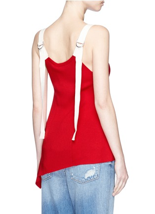 Back View - Click To Enlarge - T By Alexander Wang - Buckle strap wool knit tank top