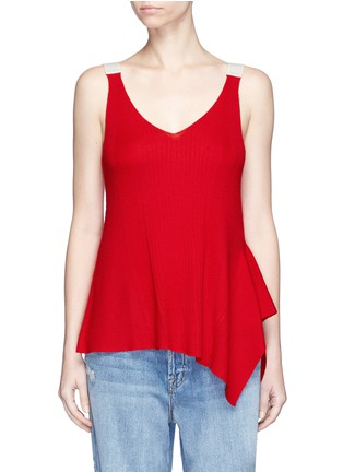 Main View - Click To Enlarge - T By Alexander Wang - Buckle strap wool knit tank top