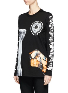 Proenza Schouler Mixed sculpture print long sleeve T-shirt