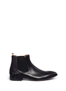 Rolando Sturlini 'City' quarter brogue leather Chelsea boots