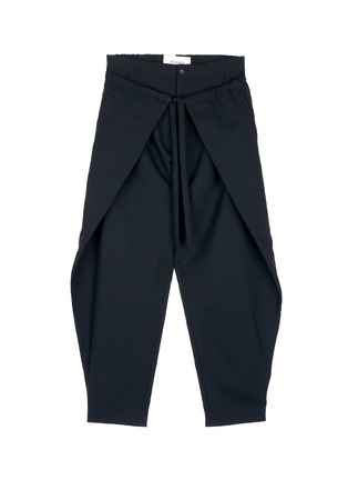 Main View - Click To Enlarge - FFIXXED STUDIOS - Front wrap wool unisex pants