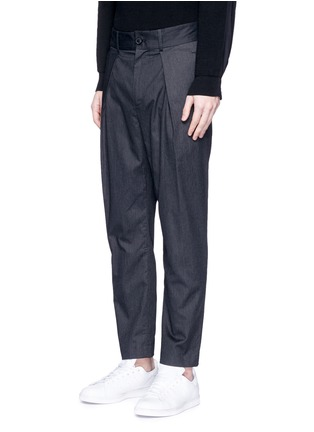 Front View - Click To Enlarge - FFIXXED STUDIOS - 'Wutong' pleated tencel unisex pants