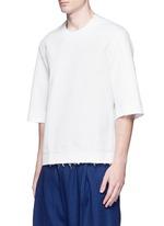Three-quarter sleeve cotton unisex top