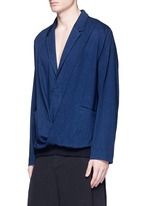 Notch lapel unisex pullover