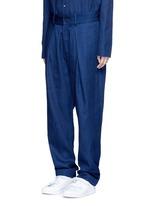 'Wutong' pleated chambray unisex pants