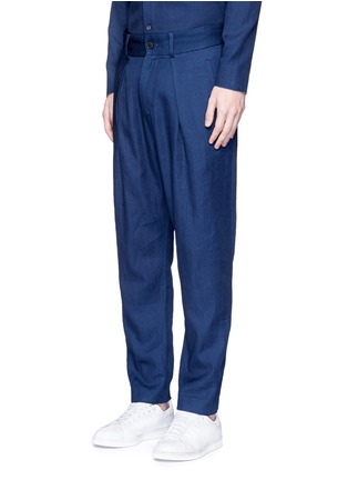 Front View - Click To Enlarge - FFIXXED STUDIOS - 'Wutong' pleated chambray unisex pants