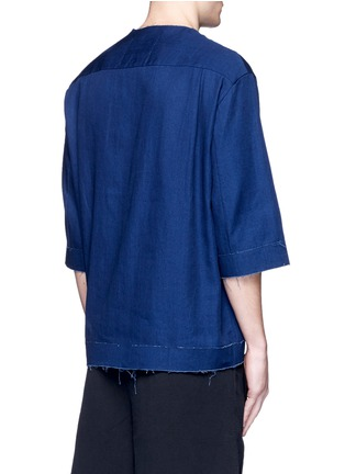 Back View - Click To Enlarge - FFIXXED STUDIOS - Three-quarter sleeve denim unisex top