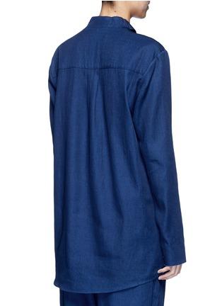 - FFIXXED STUDIOS - Knot collar cotton-tencel unisex shirt
