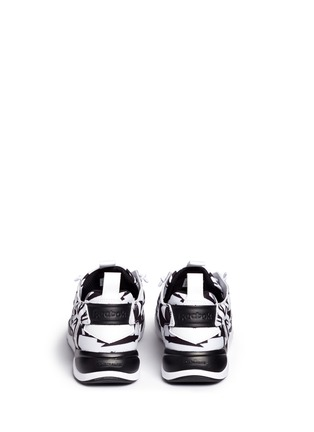 Back View - Click To Enlarge - Reebok - 'Furylite' graphic print neoprene sneakers
