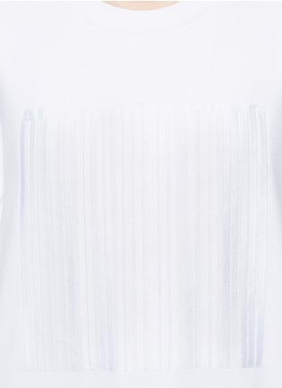 Alexander Wang -Barcode embroidery oversize sweatshirt