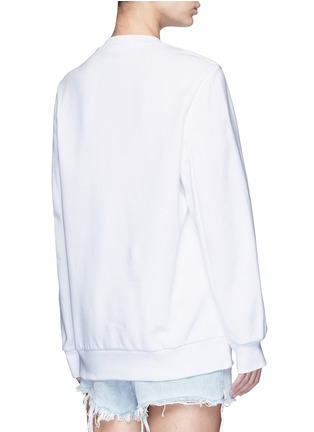 Back View - Click To Enlarge - Alexander Wang  - Barcode embroidery oversize sweatshirt