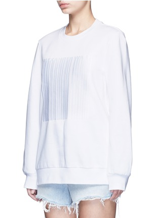 Front View - Click To Enlarge - Alexander Wang  - Barcode embroidery oversize sweatshirt