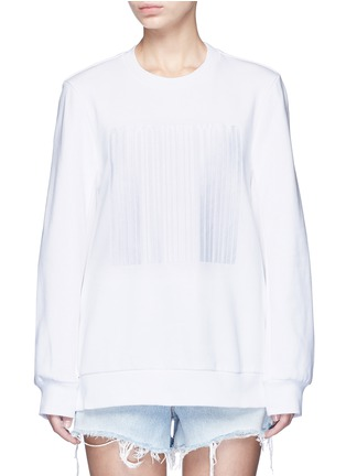 Main View - Click To Enlarge - Alexander Wang  - Barcode embroidery oversize sweatshirt