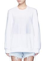 Barcode embroidery oversize sweatshirt