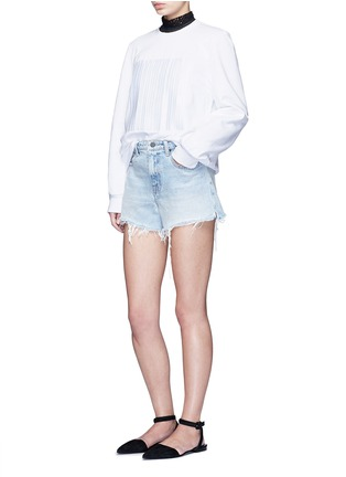 Figure View - Click To Enlarge - Alexander Wang  - Barcode embroidery oversize sweatshirt