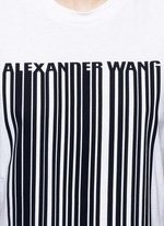 Barcode print cropped tank top