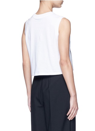 Back View - Click To Enlarge - Alexander Wang  - Barcode print cropped tank top