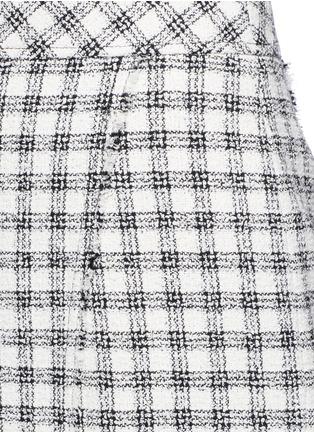 细节 - 点击放大 - ALEXANDER WANG  - 鱼尾裙摆格纹混棉半身裙