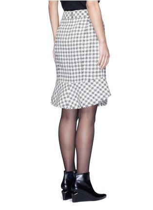 背面 - 点击放大 - ALEXANDER WANG  - 鱼尾裙摆格纹混棉半身裙