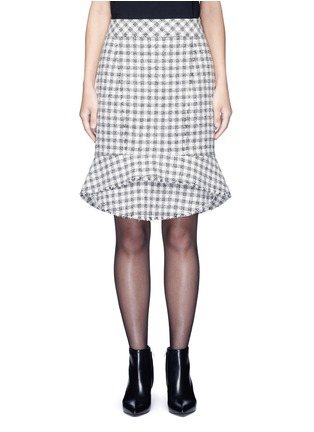 Main View - Click To Enlarge - Alexander Wang  - Tweed peplum pencil skirt