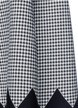 Detail View - Click To Enlarge - Alexander Wang  - Houndstooth flared skirt