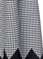 Houndstooth flared skirt