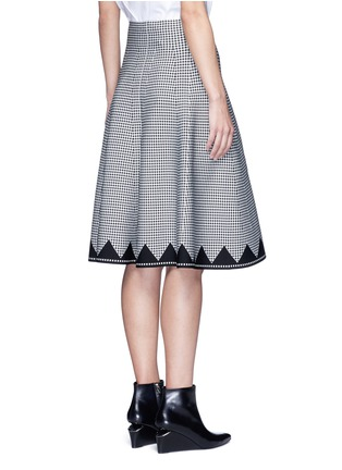 Back View - Click To Enlarge - Alexander Wang  - Houndstooth flared skirt
