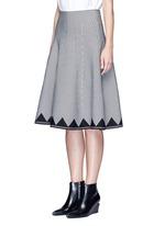 Houndstooth flare skirt