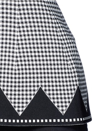 Detail View - Click To Enlarge - Alexander Wang  - Houndstooth peplum top