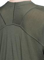 Asymmetric dipped hem Merino wool cardigan