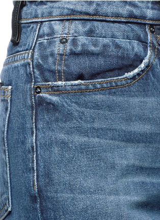 Detail View - Click To Enlarge - Alexander Wang  - 'Drill' wide leg jeans