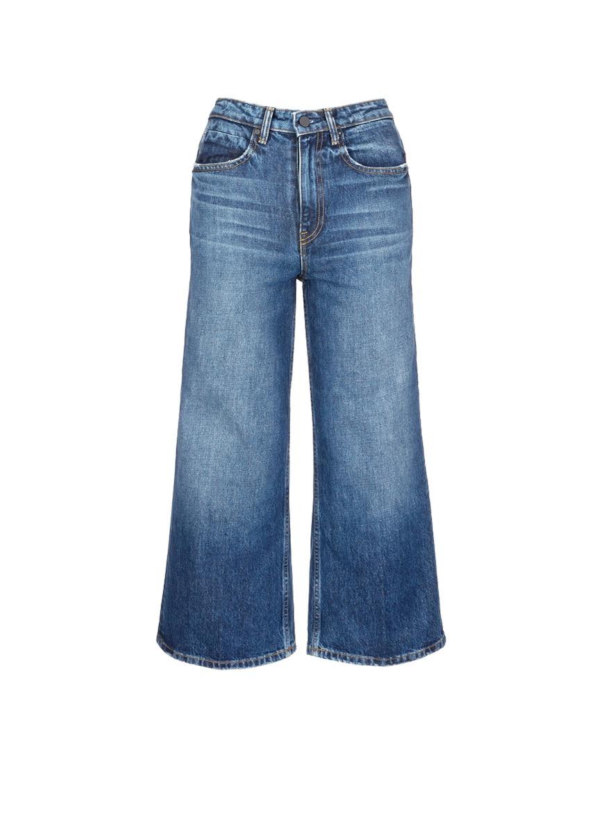 alexander wang female 201920 drill wide leg jeans