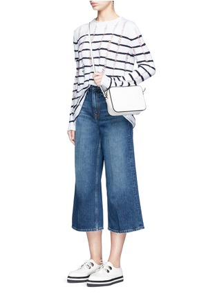 Figure View - Click To Enlarge - Alexander Wang  - 'Drill' wide leg jeans