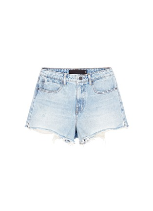Main View - Click To Enlarge - Alexander Wang  - 'Bite' frayed cuff denim shorts
