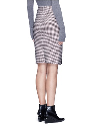 Back View - Click To Enlarge - Alexander Wang  - Keyhole split houndstooth knit pencil skirt