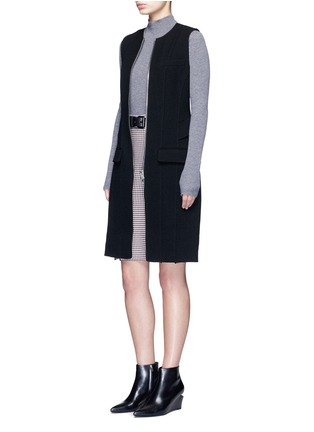 Figure View - Click To Enlarge - Alexander Wang  - Keyhole split houndstooth knit pencil skirt