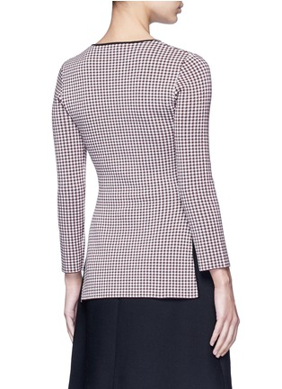 Back View - Click To Enlarge - Alexander Wang  - Keyhole split houndstooth knit top
