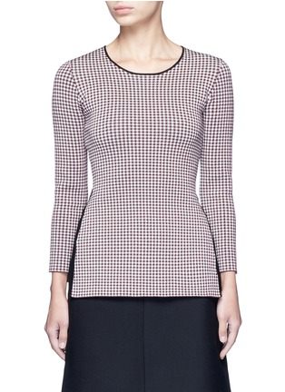 Main View - Click To Enlarge - Alexander Wang  - Keyhole split houndstooth knit top