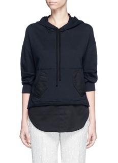 3.1 Phillip LimTwill hem French terry utility sweatshirt