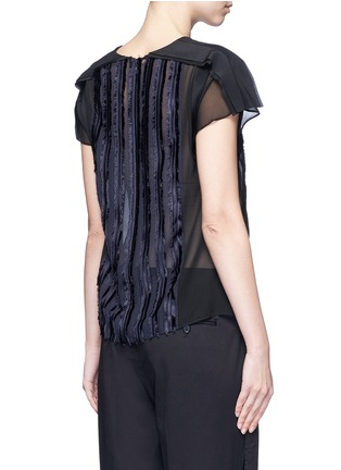 Back View - Click To Enlarge - 3.1 Phillip Lim - Fil coupé stripe chiffon top
