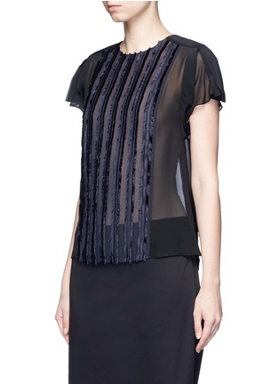 Front View - Click To Enlarge - 3.1 Phillip Lim - Fil coupé stripe chiffon top