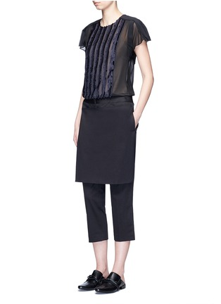 Figure View - Click To Enlarge - 3.1 Phillip Lim - Fil coupé stripe chiffon top