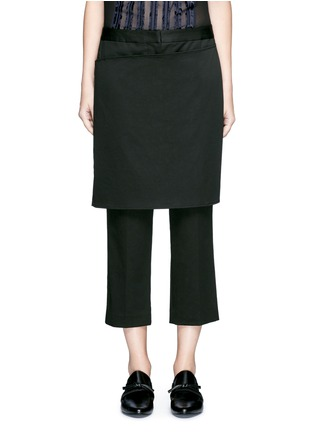 Main View - Click To Enlarge - 3.1 Phillip Lim - Apron front twill cropped pants