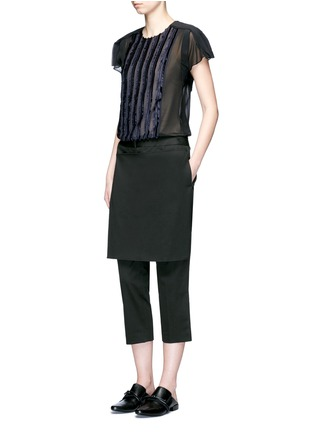Figure View - Click To Enlarge - 3.1 Phillip Lim - Apron front twill cropped pants