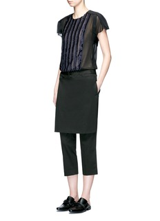 3.1 Phillip Lim Apron front twill cropped pants