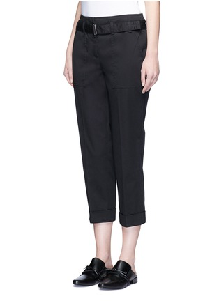 Front View - Click To Enlarge - 3.1 Phillip Lim - Belted twill cropped utility pants