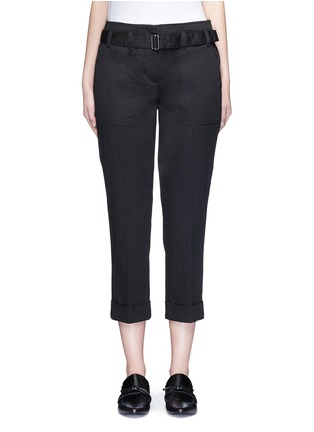 Main View - Click To Enlarge - 3.1 Phillip Lim - Belted twill cropped utility pants