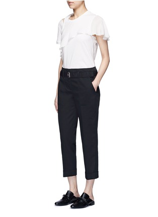 Figure View - Click To Enlarge - 3.1 Phillip Lim - Belted twill cropped utility pants
