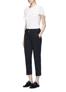 3.1 Phillip Lim Belted twill cropped utility pants