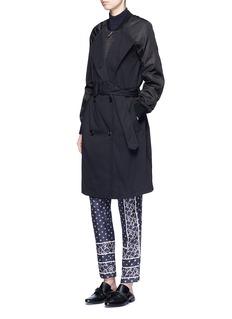 3.1 PHILLIP LIMTwill nylon combo bomber trench coat